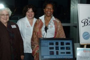 Anna Hagen, Jane Gutterman, and Judith Hooper from the Waterfront Artists Coalition. - Brooklyn Archive