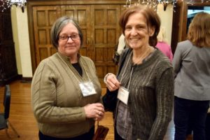 BHA Vice President Martha Bakos Dietz and Governor Susan Shepard. - Brooklyn Archive