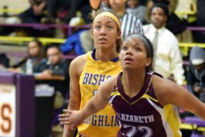 Bishop Loughlin Lions vs. Nazareth Lady Kingsmen Basketball Game 02/06/2015 - Brooklyn Archive