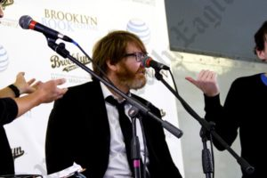 Ed Park (left), Chuck Klosterman (center) and Rob Sheffield (right).