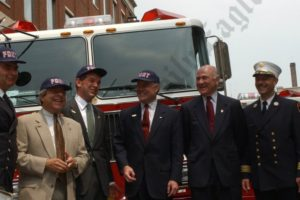 Commerce Bank Donates Fire Engines 07/18/2002 - Brooklyn Archive
