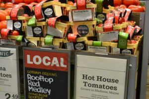 Tomatoes are grown on the roof and sold in Brooklyn's Whole Foods Market.