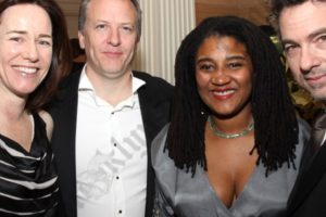 Susan and Neil Whoriskey, Lynn Nottage, and Tony Gerber.