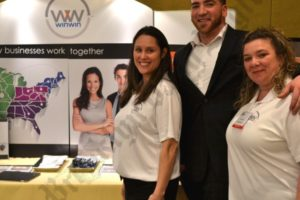 Jennifer Harrison, director of marketing and sales training, Steven Henriquez and Kim DaSilva, marketing and sales coordinator at WinWinUSA, a company that helps businesses collaborate and network. - Brooklyn Archive