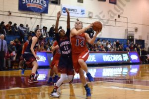 Saint Francis vs. Robert Morris Women's Basketball Game 01/24/2015 - Brooklyn Archive