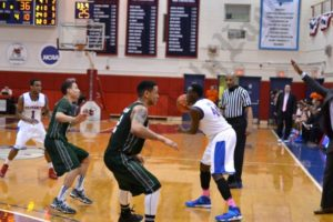 The St. Francis College men's basketball team beat Wagner College 73-72 on Feb. 1, 2014. - Brooklyn Archive