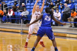 The St. Francis women's basketball team beat Central Connecticut 71-50 on Feb. 1, 2014. - Brooklyn Archive