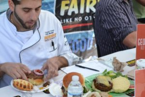 Vincent Olivieri from Fairway was one of the judges. - Brooklyn Archive