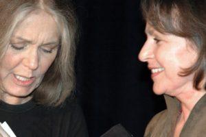 Gloria Steinem and Elizabeth Sackler. - Brooklyn Archive