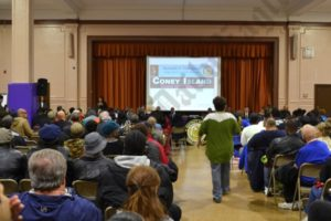 More than 300 people packed an auditorium at Liberation Diploma Plus High School in Coney Island on Thursday night to hear what D.A. Ken Thompson had to say. - Brooklyn Archive
