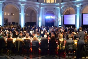 Oh, What A Night: The Beaux-Arts Court of the Brooklyn Museum was all lit up Wednesday night for its fundraiser gala, the Brooklyn Artists Ball. - Brooklyn Archive