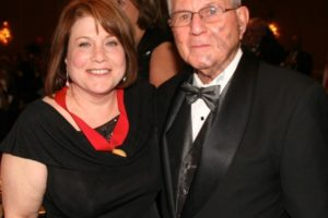 Retired Kings County Supreme Court Justice Jules Spodek (right) presented the Annual Award to his daughter, Hon. Ellen Spodek. - Brooklyn Archive