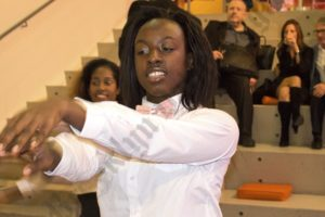 Dancer for marching band - Brooklyn Archive