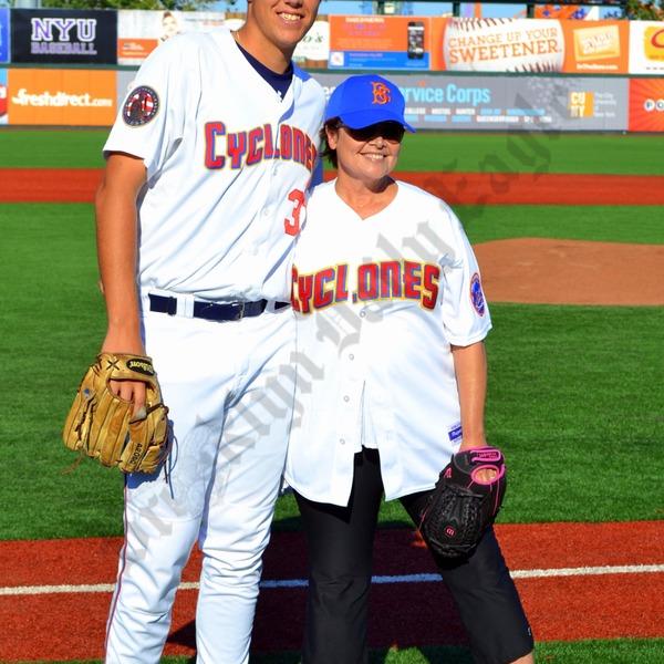 Brooklyn Cyclones pitcher Brad Wieck and Rosalind Allen ...