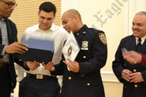The 84th Precinct's 2013 Cop of the Year Saief Hasnain. - Brooklyn Archive