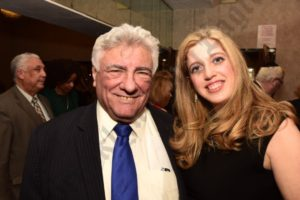 King's County Democratic Party Chair Frank Seddio with honoree Susan Master. - Brooklyn Archive
