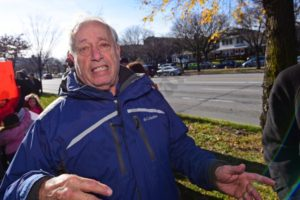 Local resident Milton Farkas describes some of the problems proposed NYSDOT changes will make for traffic flow in the area. - Brooklyn Archive