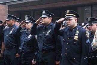 9/11 Memorial Service at the 70th Precinct 09/11/2018